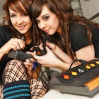 girls playing video games