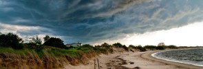 approaching storm over beach