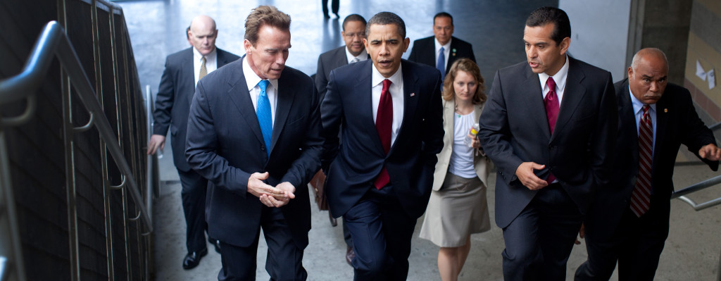 Arnold Schwarzenegger with Barack obama