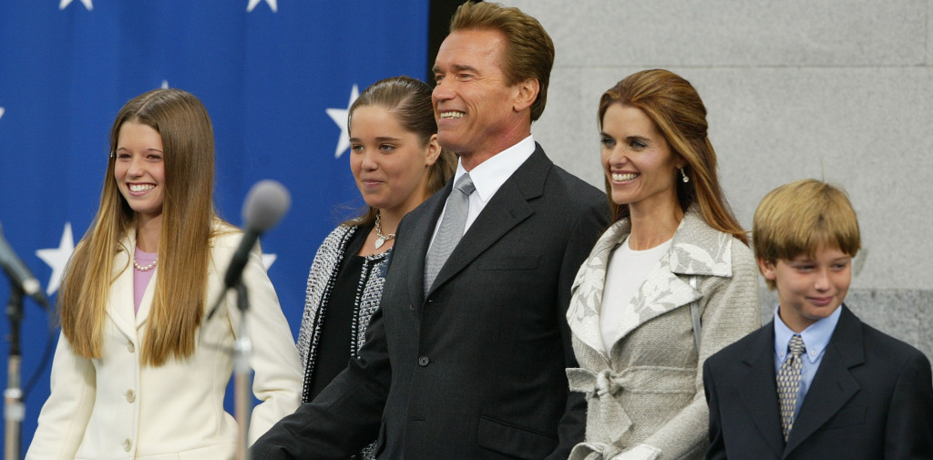 Arnold Schwarzenegger Is Sworn In As The 38th Governor Of California with maria shriver
