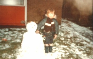 me with a snowman